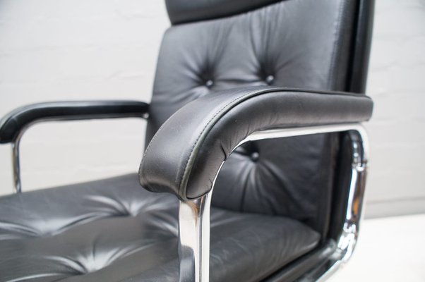 Fantastic High Back Italian Leather Office Chair 1985 Alphanode Cool Chair Designs And Ideas Alphanodeonline