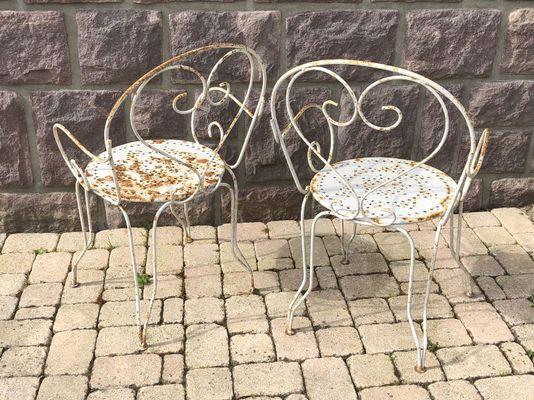 Chaises de Jardin Vintage en Fer Forgé, Set de 2 en vente sur Pamono