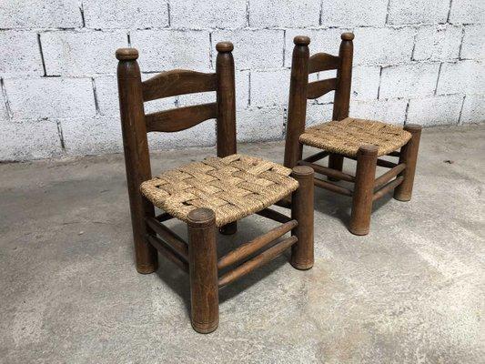 Sedie Piccole Legno.Sedie Piccole In Legno Anni 40 Set Di 2
