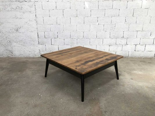 Surprising Vintage Coffee Table With Oak Top Pabps2019 Chair Design Images Pabps2019Com
