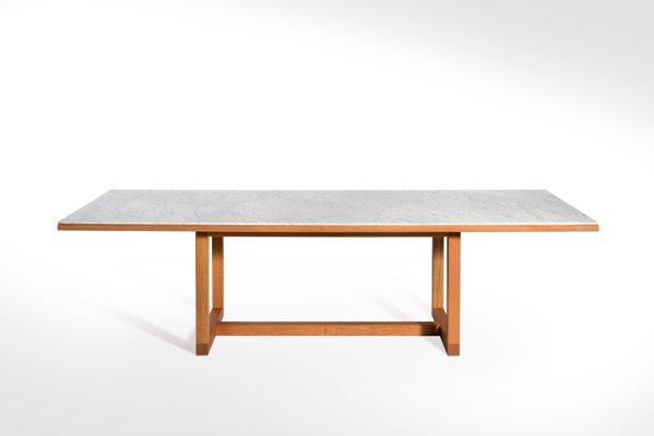 Pawson pour Salvatori en Marbre Bianco par John à Table de Carrara Salle Manger TlKF13Jc