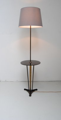 Floor Lamp With Side Table 1950s