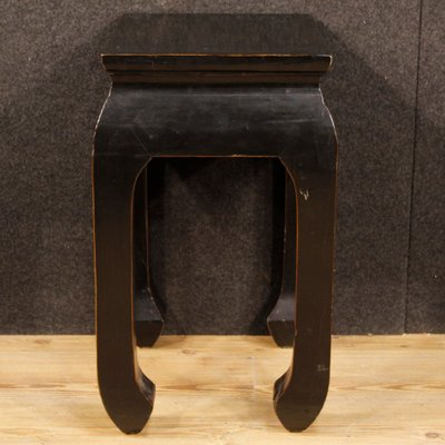 Chinese Black Lacquered Wood Coffee Table 1960s