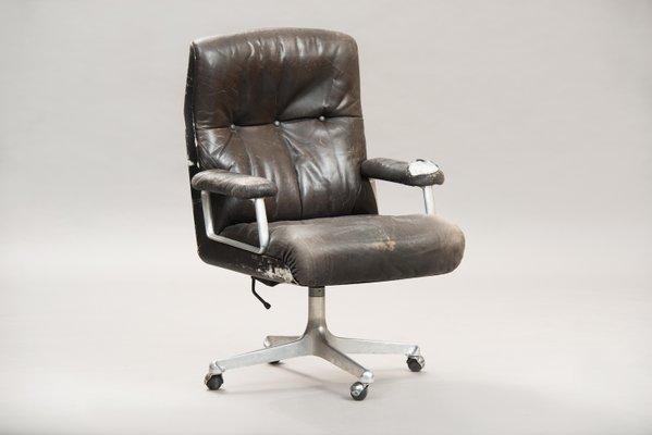 Swell Vintage High Back P125 Executive Desk Chair By Osvaldo Borsani For Tecno Download Free Architecture Designs Grimeyleaguecom