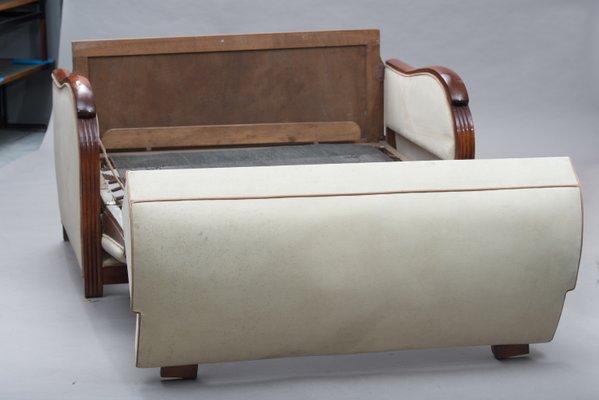Tremendous Art Deco French Wood Framed Sofa Bed Evergreenethics Interior Chair Design Evergreenethicsorg