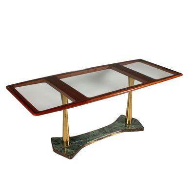 Tisch Aus Mahagoni Glas Marmor 1950er Bei Pamono Kaufen