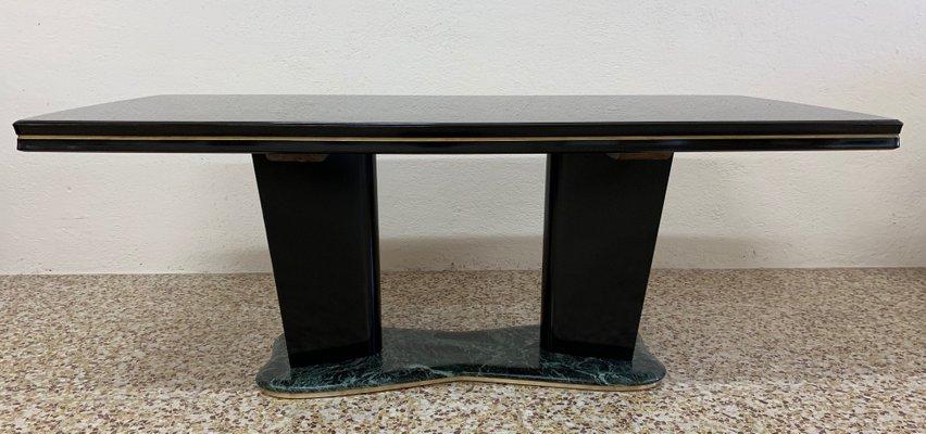 Table de Salle à Manger en Verre & Marbre par Vittorio Dassi, Italie ...