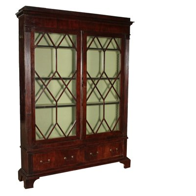 Mobiletto in legno e vetro, Regno Unito, XIX secolo