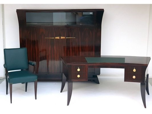 Art Deco Rosewood Furniture Set By Jacques Emile Ruhlmann 1920s For