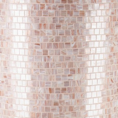 Pink Low-Density Polyethylene Obice Vase with Bisazza Mosaic from VGnewtrend