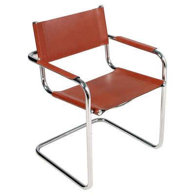 Groovy Vintage Italian Leather Chrome Cantilever Chair Pdpeps Interior Chair Design Pdpepsorg
