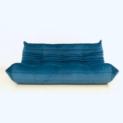 Terrific Grosses Mid Century Togo Sofa In Blau Von Michel Ducaroy Fur Ligne Roset 1970Er Cjindustries Chair Design For Home Cjindustriesco