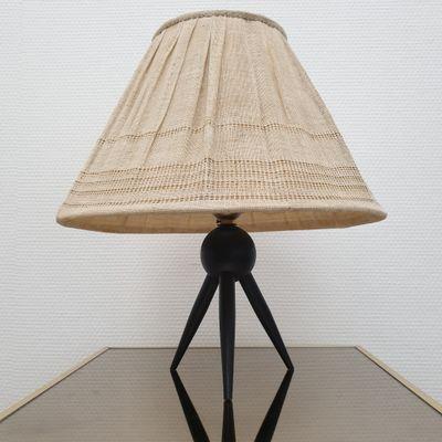 Lámpara pantalla de 50 trípode mesa vintage con telaaños con danesa de E29YIWDH