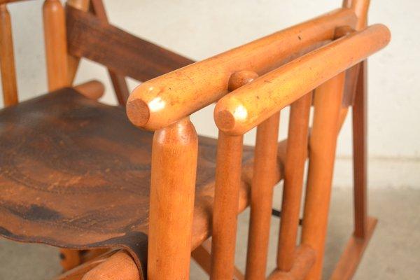 Outstanding Ecuadorian Safari Rocking Chair 1960S Inzonedesignstudio Interior Chair Design Inzonedesignstudiocom
