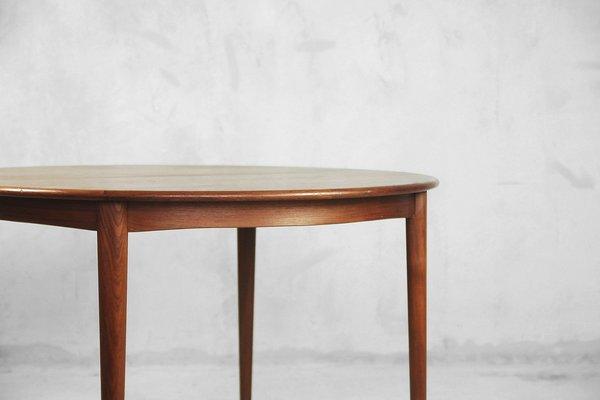 Mesa de comedor extensible sueca Mid-Century redonda, años 60