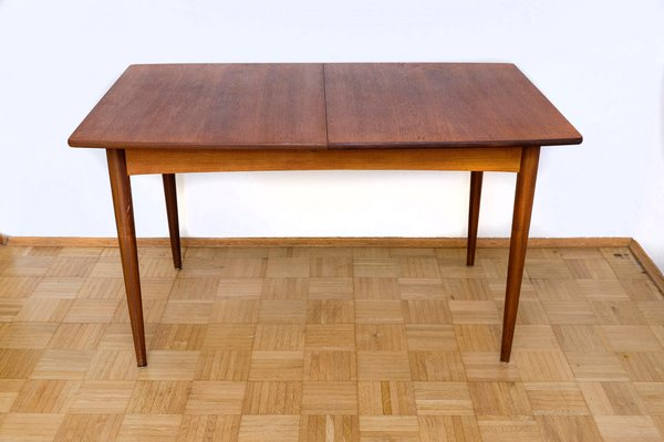 Vintage Dining Table With Teak Central Extension 1960s 1