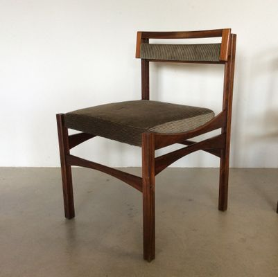 Vintage Rosewood Chairs 1960s, Set Of 5 1