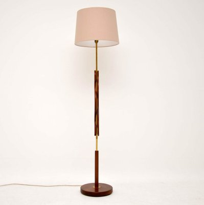 Vintage Teak Brass Floor Lamp 1960s For Sale At Pamono
