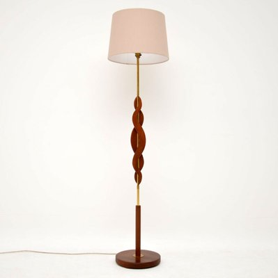 Lampada Terra Anni 60.Lampada Da Terra Vintage In Teak Ed Ottone Anni 60