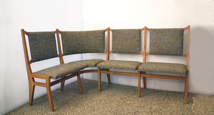 Mid Century Italian Corner Sofa 1950s