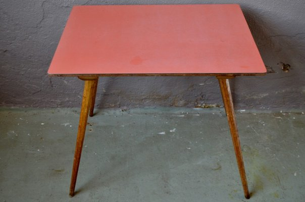 Small Red Formica Table 1950s For Sale At Pamono