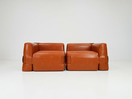 Awesome 932 Quartet Cognac Leather Armchair Sofa By Mario Bellini For Cassina 1965 Pabps2019 Chair Design Images Pabps2019Com