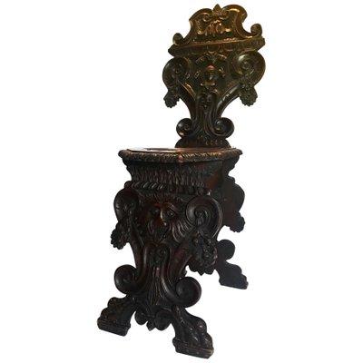 Italian Renaissance Revival Sgabello Chair 1870s For Sale At Pamono