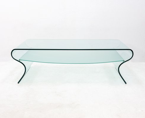 Charlotte Curved Gl Coffee Table By