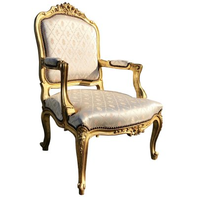 Antique French Louis Xv Armchair For Sale At Pamono