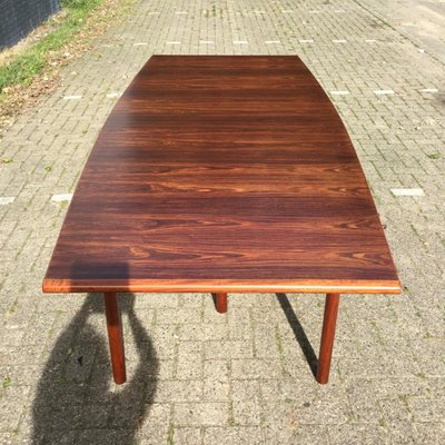 Large Brazilian Rosewood Dining Table By Arne Vodder For Sibast 1960s