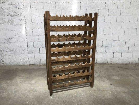 Antique Wooden Wine Rack