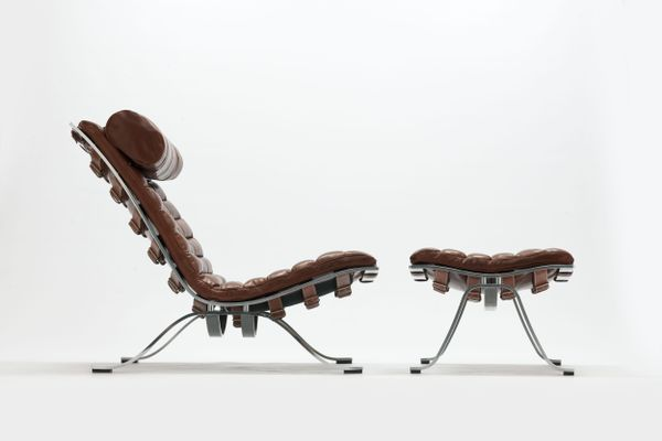 Fine Brown Leather Ari Lounge Chair Ottoman Set By Arne Norell 1970S Dailytribune Chair Design For Home Dailytribuneorg