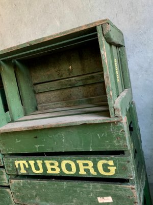 Vintage Danish Beer Crate from Tuborg, 1950s