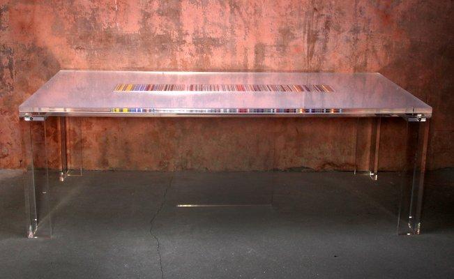 Tavolo da pranzo moderno in plexiglas e acrilico di Moretti per Komodo Art  Design, Italia, inizio XXI secolo