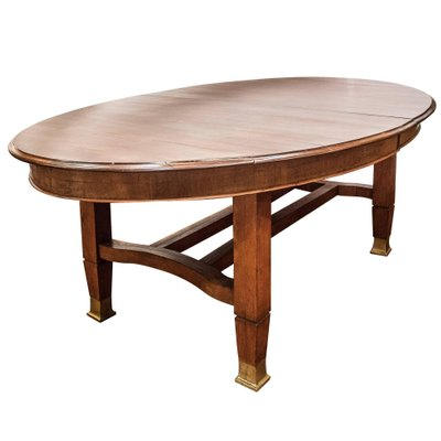 Vintage Arts Crafts Style Mahogany Oval Dining Table