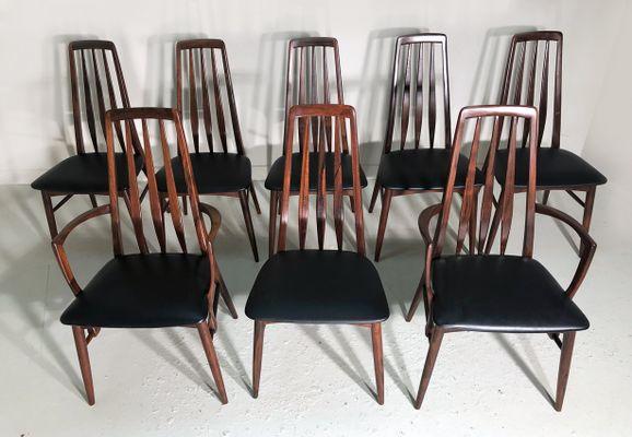 Eva Rosewood Chairs By Niels Koefoed For Koefoeds Hornslet, Set Of 8 1