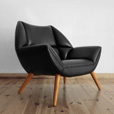 Dänisches Set Aus Sessel Fußhocker Von Kurt østervig 1960er Bei