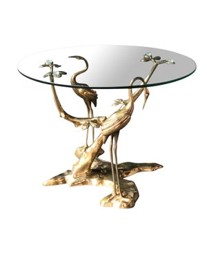 Astonishing Bronze Crane Bird Coffee Table By Willy Daro 1970S Uwap Interior Chair Design Uwaporg