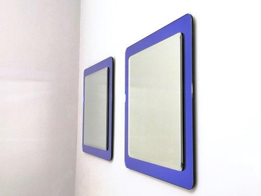 Specchi da parete Royal Blue grandi, Italia, anni \'70, set di 2