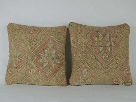 Handwoven Pale Kilim Throw Pillows from Vintage Pillow Store Contemporary,  Set of 2