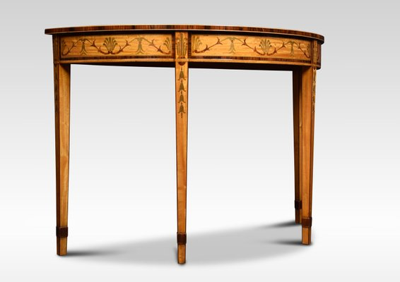 Antique Neoclical Style Satinwood Console Tables Set Of 2