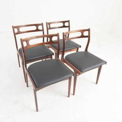 Remarkable Rosewood Cow Leather Chairs By Johannes Andersen For Uldum 1969 Set Of 4 Alphanode Cool Chair Designs And Ideas Alphanodeonline