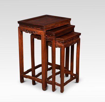 Antique Chinese Rosewood Nesting Tables 1