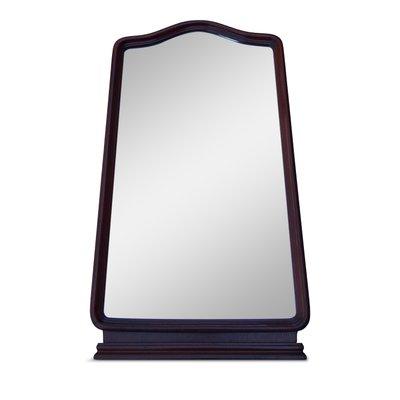 Specchio da parete vintage in quercia, anni \'50 in vendita su Pamono