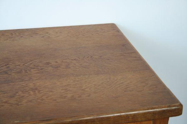 Schreibtischplatte holz  Schreibtisch aus rustikalem Holz, 1960er