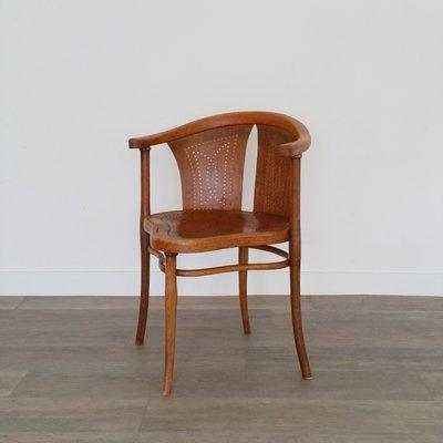 Courbé Art Nouveau Thonet1900s de Chaise Bureau de NoHêtreBois MpSzVU