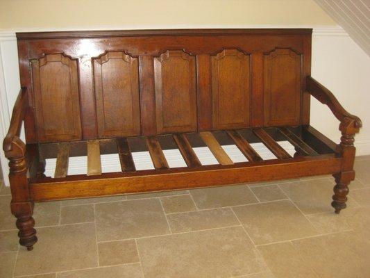 Awe Inspiring Antique English Oak Settee Uwap Interior Chair Design Uwaporg