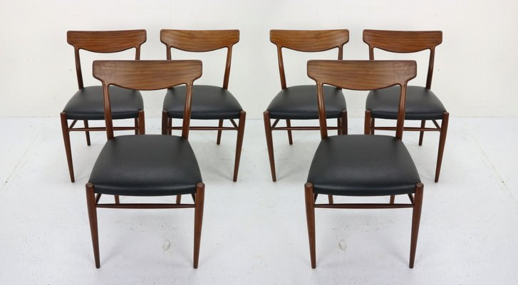 Danish Modern Dining Room Chairs, 1960s, Set of 6