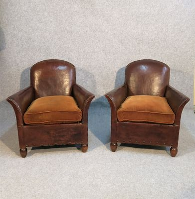 Leather Club Armchairs 1920s Set Of 2 For Sale At Pamono