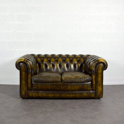 Vintage Chesterfield Leather Sofa for sale at Pamono